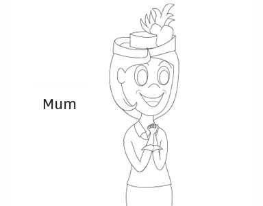 Mum coloring page