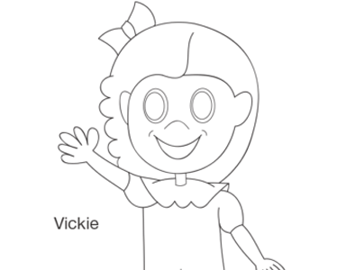 Vickie coloring page